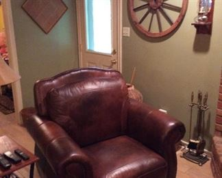 Like new Oversized Leather Recliner.