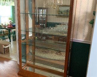 Lighted curio cabinet