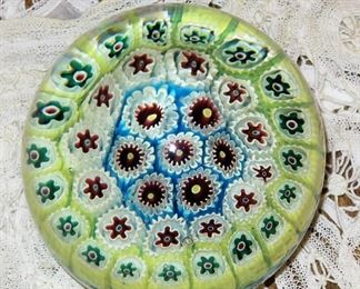 Early vintage Millefiori paper weight