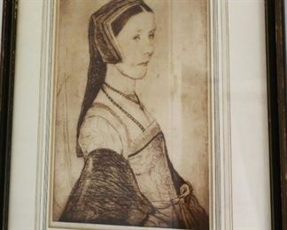 Anna Cresacre print by artist Hans Holbein