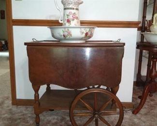 The tea cart is a beauty!