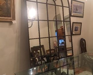 "Restoration Hardware Palladian mirror 57"" tall.   Beautiful!"