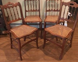Caned seat chairs  https://ctbids.com/#!/description/share/191708