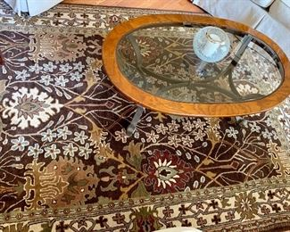 Beautiful rug  from Crate and Barrel        size 9' x 6'  100% wool pile