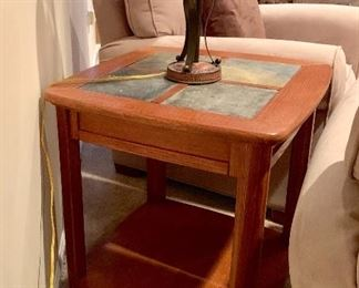 Matching Side Table w/tile top
