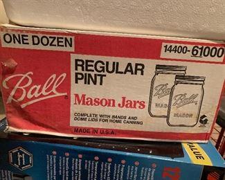12 Mason Jars