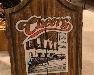 Cheers dart board and cabinet