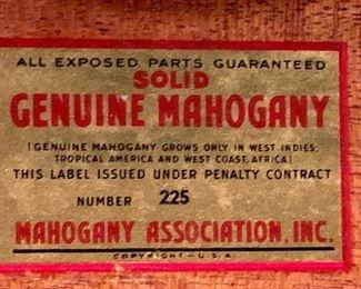 Georgetown Galleries - Solid Mahogany
