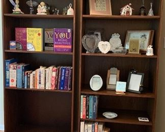 2 Tall Oak Book Cases