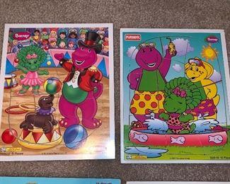 Playskool wooden Barney puzzles