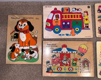 Fisher-Price wooden puzzles