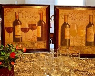 Stemware and pictures