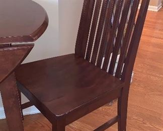 Close up of chair- Stickley style