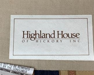 Highland House wing back chair