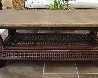 Faux stone-top coffee table https://ctbids.com/#!/description/share/189839