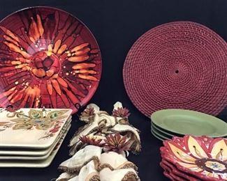 Floral dishware, placemats and napkins https://ctbids.com/#!/description/share/189856