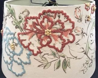 Beautiful embroidered lampshade https://ctbids.com/#!/description/share/189868