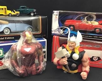 Model Cars & Collectible Thor and Ironman Figures https://ctbids.com/#!/description/share/189865