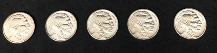 5 Silver Buffalo Rounds - 1 Troy Oz   https://ctbids.com/#!/description/share/189882