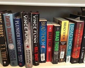 Fiction books including Brad Thor and Vincent Flynn https://ctbids.com/#!/description/share/189877