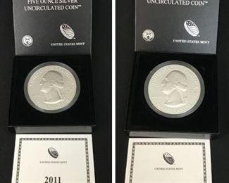 2 5oz Silver Uncirculated Coins https://ctbids.com/#!/description/share/189887