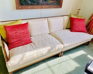 Antique couch reupholstered by reupholstery specialists Inc. NY