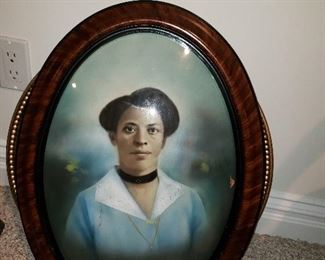 Antique photo African American woman