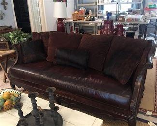 Great leather sofa!