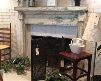 This fantastic shabby mantel is for sale!