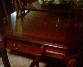Dining table open drawer