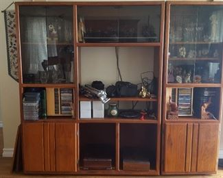 Entertainment center can handle a good sized flat screen TV and lots of storage besides!