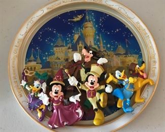 We still have a nice selection of vintage and newer Disney Items including this wonderful 3D plate!
