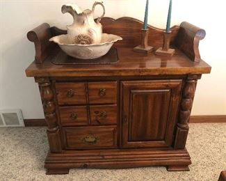 Antique Dry Sink w/ Pitcher and bowl