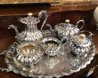 Heavy English Siverplated Tea Service
