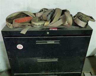 Metal Cabinet, Various Metal Pieces