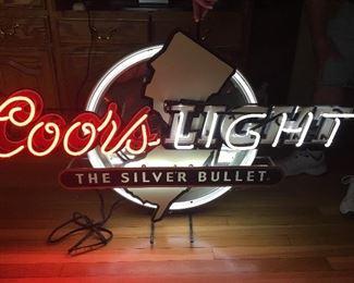 Neon New Jersey Coors Light Sign