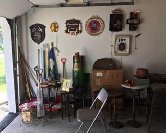 Vintage beer signs
