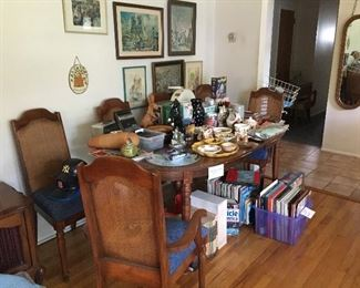 dining set and six chairs