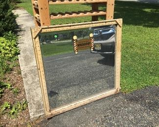 Antique Barber Shop Mirror