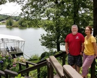 Glenn and Gaelle enjoying the view. Bring your bathing suit and fishing pole!