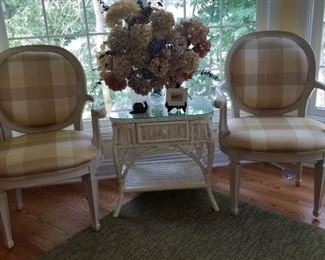 Arm Chairs and Table