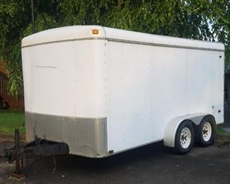 Just received  7x14 covered trailer. Trailer has title!  I will try and have the trailer at this sale