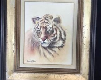 Sonia Gil Torres, Tiger  Signed Oil on Canvas