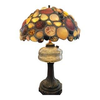 Antique Lamp w Shell Shade