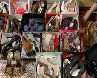 Over 50 pairs of shoes