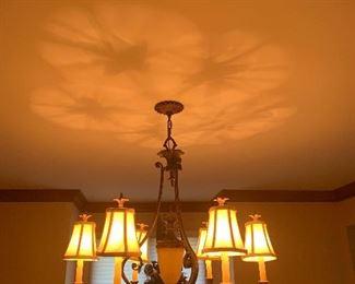 Chandelier—- dining room