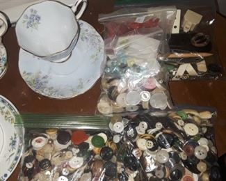 Lots of vintage buttons.