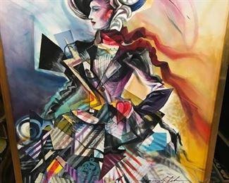 Marcus Cerda painting