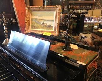 Baldwin piano, bronzes