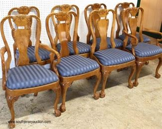 """QUALITY SOLID """"Harden Furniture"""" Cherry 9 Piece Ball and Claw Dining Room Table with 4 Leaves and 8 Chairs  Auction Estimate $500-$1000 – Located Inside"""
